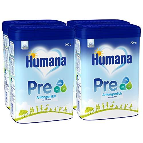 Humana Anfangsmilch PRE, Babynahrung zum Zufüttern und als alleinige Pre-Nahrung, mit wichtigen...