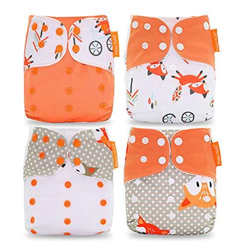 HahaGo Baby Stoffwindel waschbar wiederverwendbare Windeln All-in-One-Taschenwindel für die meisten Babys und...