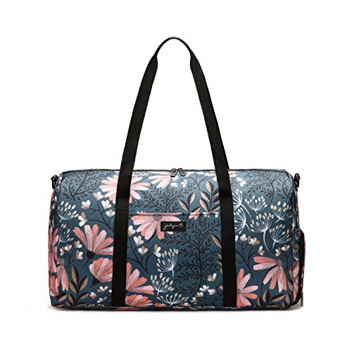 Jadyn B 22' Women's Weekender Duffel Bag with Shoe Pocket, Navy Floral