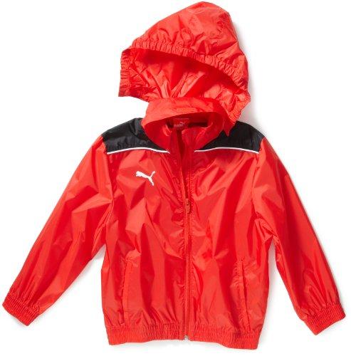 PUMA Kinder Jacke Rain Jacket Regenjacke, Red/Dark Shadow, 176