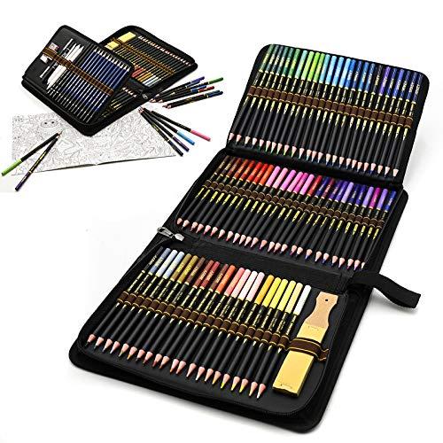 96 Stück Buntstifte Set, Bleistift Zeichnen Set, Zeichnen Graphite Set In Federmäppchen, Ideales Schulbedarf...