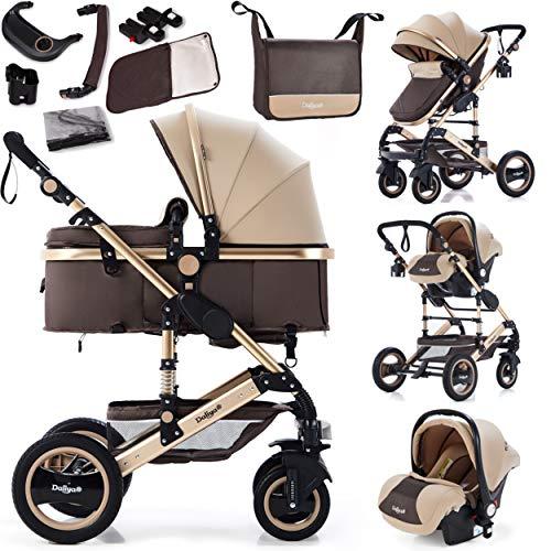 Daliya Bambimo 3in1 Kinderwagen Kombikinderwagen Riesenset 15-Teilig incl. Babywanne, Buggy, Babyschale mit...