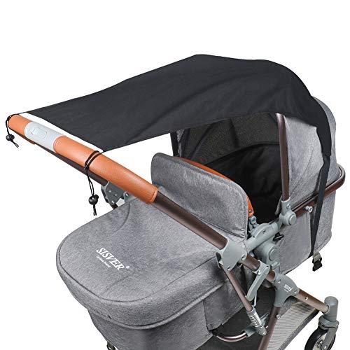 Fengzio Universal Sonnensegel für Kinderwagen/Babywanne UV Schutz Beschichtung 50+ Sonnenschutz für Babys...