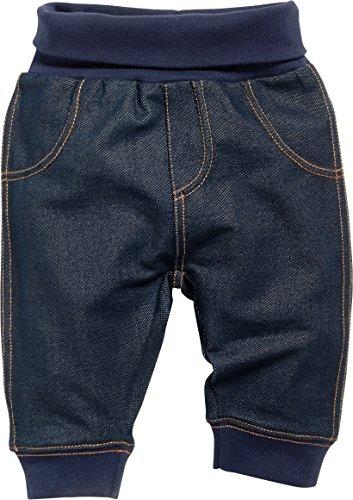 Schnizler Baby-Unisex Sweat-Hose Jeans-Optik Jogginghose, Blau (Blau 7), 0-3 monate (Herstellergröße:62)