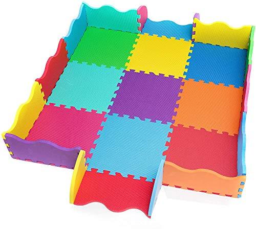 25 St. Puzzlematte Baby EXTRA DICK 15mm, Spielmatte incl Rand Schaumstoff Bodenpuzzle Baby Spielunterlage...