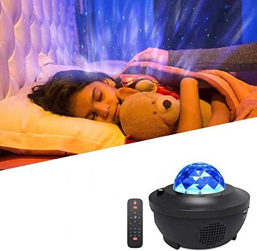 Sternenprojektor Nachtlicht,Morwealth Sternprojektor mit musik Fernbedienung Bluetooth Lautsprecher für Baby...