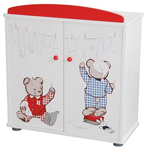 """roba Puppenkleiderschrank Serie """"Teddy College"""", Puppenmöbel zum Verstauen von Puppenkleidung und..."""