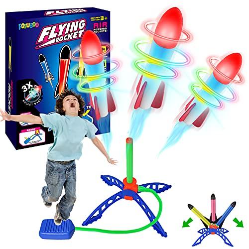 FOSUBOO Spielzeug für Draußen Rakete Spiele für Kinder Outdoor Gartenspielzeug Outdoorspiele Flugzeug...