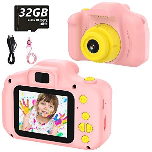 Kinder Digital Kamera Spielzeug Kleinkind Kamera Spielzeug 2 Zoll HD-Bildschirm 1080P 32 GB TF-Karte Jungen...