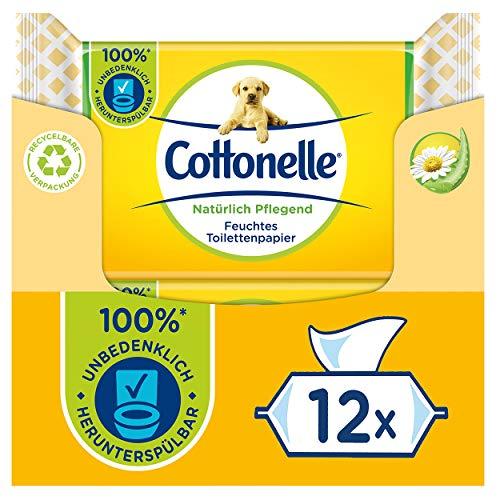 Cottonelle Feuchtes Toilettenpapier, Natürlich Pflegend - Kamille & Aloe Vera, Biologisch Abbaubar,...