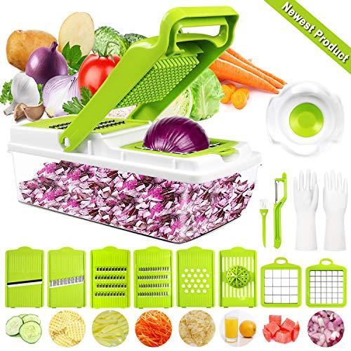 Gemüseschneider Gemüsehobel, DA Heng 9 in 1 Vielseitiger Gemüsehobel Kartoffelschneider Obstschneider,...