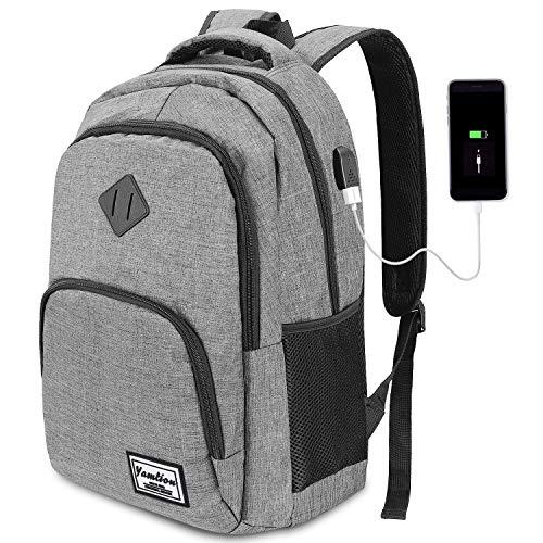 YAMTION Laptop Rucksack Business Rucksack für 15.6 Zoll Laptop Schulrucksack mit USB Ladeanschluss für...