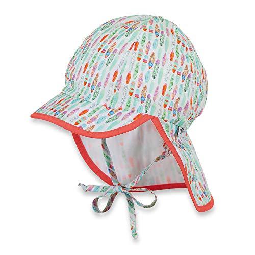 Sterntaler Schirmmütze mit Bindebändern und Nackenschutz, Alter: 2-4 Jahre, Größe: 53, Mintgrün