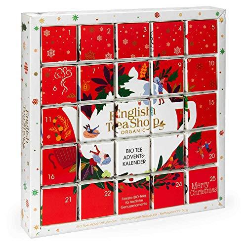 English Tea Shop - Puzzle Tee Adventskalender 'Red Christmas', 25 weihnachtliche Premium BIO Tees