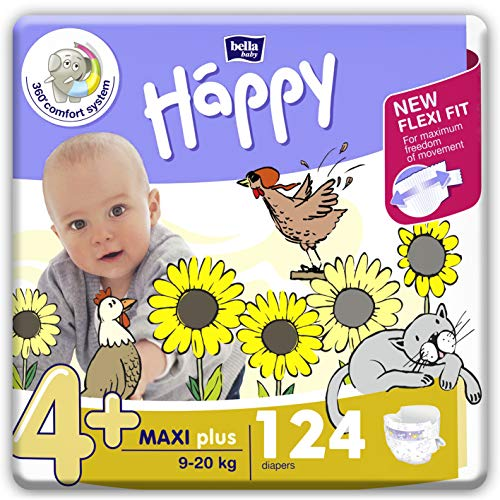 bella baby Happy Windeln für Babys Gr. 4+, 9-20 kg, im Monatspack mit perfekter Passform und maximalem Schutz...