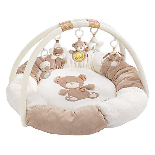 Fehn 160963 3-D-Activity-Nest Rainbow / Besonders weicher Spielbogen mit 5 abnehmbaren Spielzeugen für Babys...
