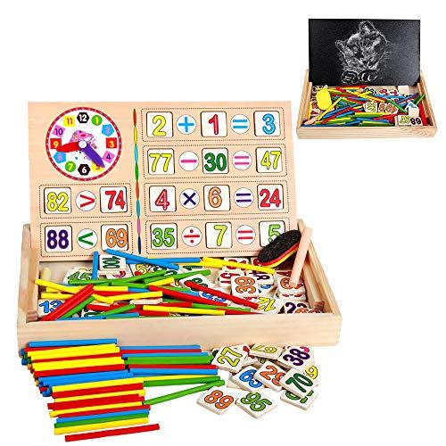 ZoneYan Mathe Spielzeug Montessori, Mathe Spielzeug Rechenstäbchen, Zählstäbchen Montessori, Montessori...