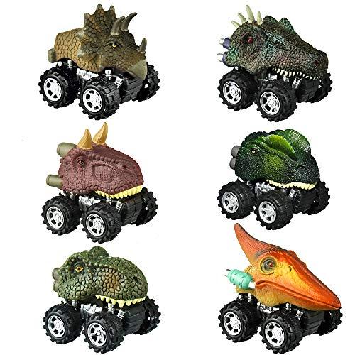 SOKY Spielzeug für Jungen 3-8 Jahre, Dinosaurier Kinder ziehen Auto Zurück Mini Spiele Geschenke Jungen 3-8...