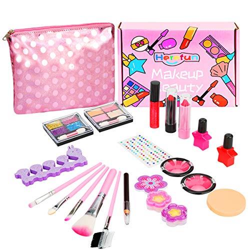 Herefun Makeup Set für Kinder, Kinderschminke Set Mädchen, 21 Stück Waschbar Kinderschminke Set mit Vielen...