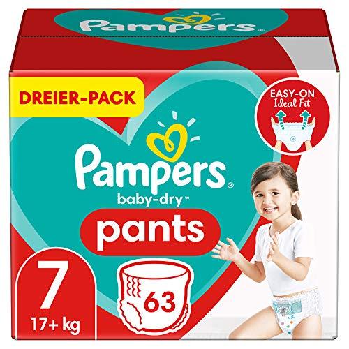 Pampers Baby-Dry Pants 7, 63Höschenwindeln, Einfaches An- und Ausziehen, Zuverlässige Pampers Trockenheit,...
