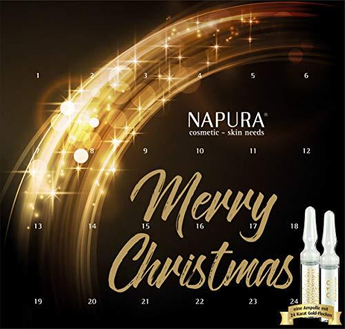 NAPURA Ampullen-Kur AKTION, Kosmetik-Set | Limitierte Edition mit Goldampulle | straffend & pflegend |...