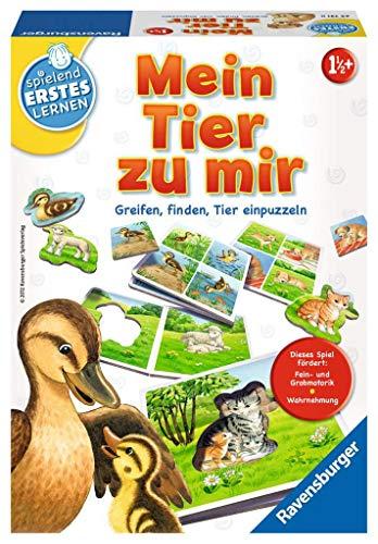 Ravensburger 24731 - Mein Tier zu mir - Puzzelspiel für die Kleinen - Spiel für Kinder ab 1 und 1/2 Jahren,...