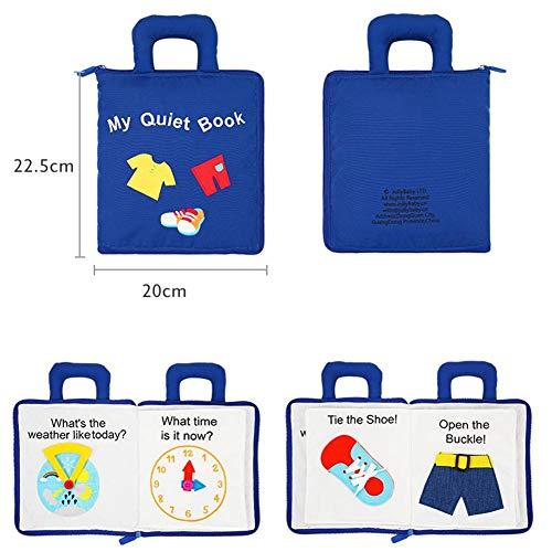 Hearthrousy Stoffbuch Baby Spielzeug Training Feinmotorik Tasten Entdeckungsbuch Früh Lernen Lernspielzeug...