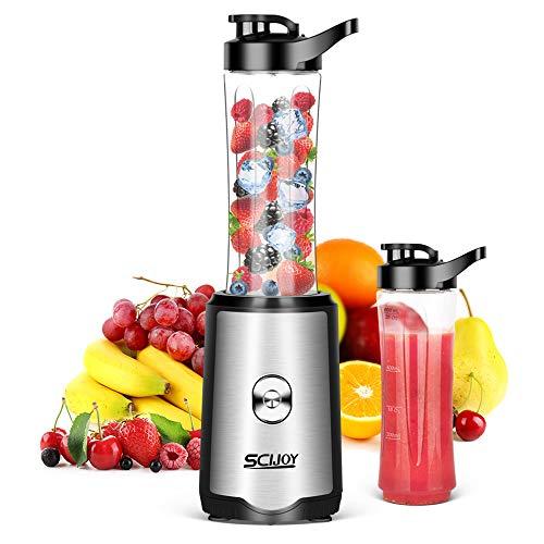 Smoothie Mixer SCIJOY Standmixer für Milchshakes und Juice Shakes, Blender elektrisch, Kleiner Mixer mit 2...