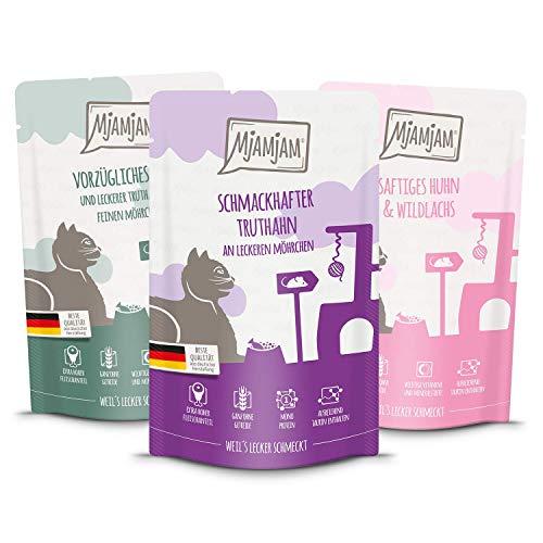 MjAMjAM Multipack 1 Quetschies 12*Truthahn, 12*Huhn & Wildlachs, 12*Kalb & Truthahn, 1er Pack (1 x 4500 g)