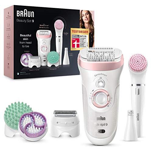 Braun Silk-épil Beauty-Set 9 9-995 Deluxe 9-in-1 Kabellose Wet&Dry Haarentfernung – Epilierer, Rasierer,...