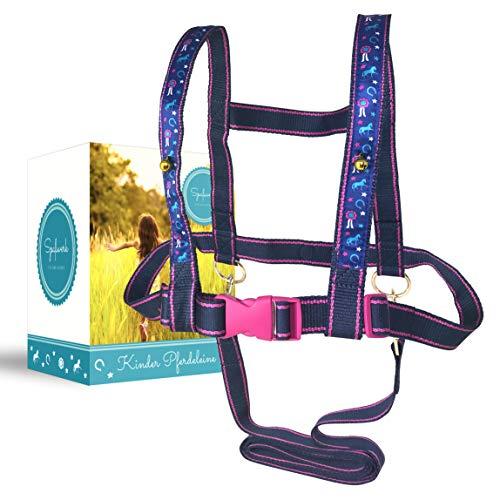 Spaßwerk Pferdeleine zum Spielen für Mädchen   Pferdegeschirr für Kinder & Pferdefreunde von 3 bis 12...