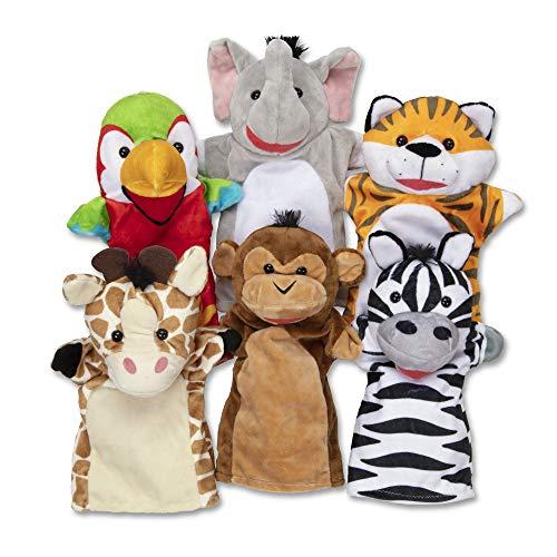 Melissa&Doug Safari Friends Handpuppen   Handpuppen und Theater   weiches Spielzeug   3+   Geschenk für...