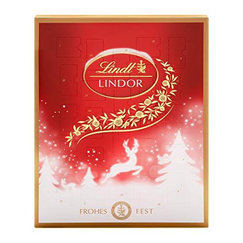 Lindt Lindor Adventskalender (24 verschiedene Überraschungen aus weißer, dunkler und Milchschokolade)...