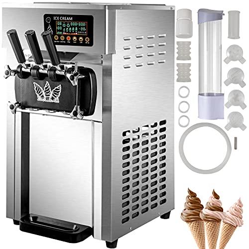 VEVOR Speiseeisbereiter Desktop Kommerzielle Softeismaschine 16-18 L/H 50Hz Eismaschine Ice Cream maker 220V...