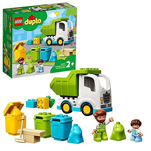 LEGO 10945 DUPLO Müllabfuhr und Wertstoffhof, Müllauto Spielzeug, Lernspielzeug, Kinderspielzeug ab 2 Jahre