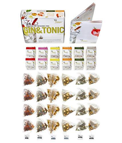 Gin Tonic Aroma Box mit 24 Geschmacks Aufgüssen - Ideales Geschenk für Gin & Tonic Cocktails mit Gewürzen &...