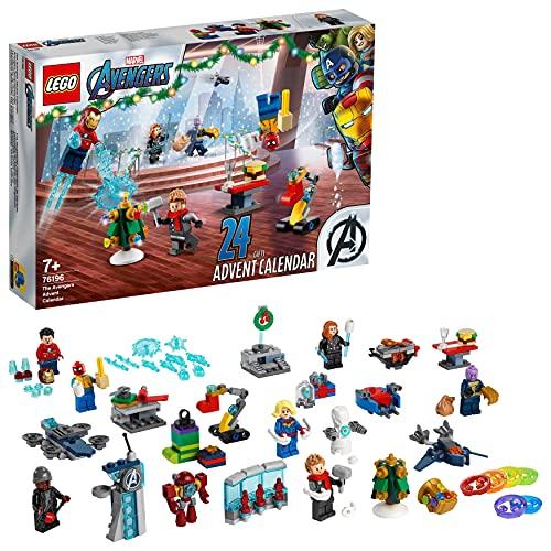 LEGO 76196 Marvel Avengers Adventskalender 2021 Spielzeugset aus Bausteinen mit Spider-Man und Iron Man für...