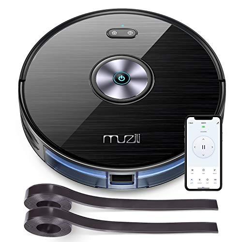 Muzili Saugroboter, WLAN Staubsauger Roboter mit Wischfunktion,App Fernbedienung & Funktioniert mit Alexa,...
