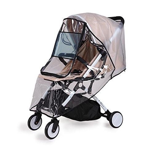 bemece Universal Regenschutz für Kinderwagen, Regenverdeck für buggy, Bequemes Zugangsfenster, Gute...