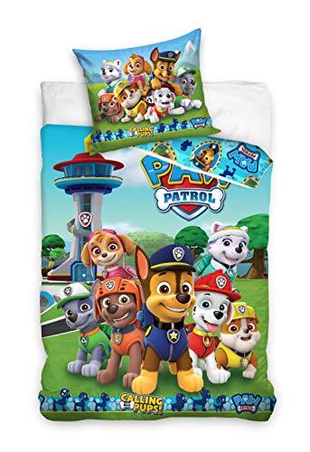 Paw Patrol Bettwäsche Bettbezug 135x200 80x80 Baumwolle · Kinderbettwäsche für Mädchen und Jungen · 2...