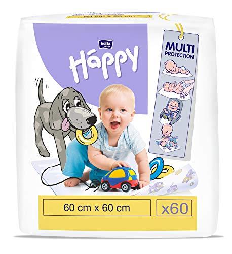 bella baby Happy Wickelunterlagen: Baby Wickelunterlagen für unterwegs 60 x 60 cm im 2er Pack (2 x 30 Stück)...