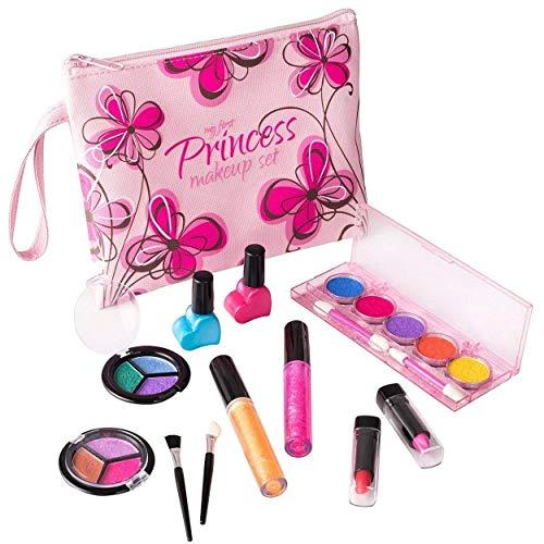 Playkidz Meine erste Prinzessin Waschbar Real Make-up-Set, mit Designer Floral Kosmetiktasche