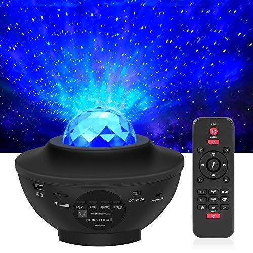 LED Projektor Sternenhimmel Lampe Kinder Nachtlicht Baby Sterne Lampe mit Fernbedienung/Bluetooth Lautsprecher...