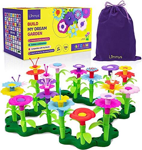 Limmys 105-Teile-Set 'Build My Dream Garden' Blumen-Garten Spielzeug für Kleinkinder - Lernspielzeug als...
