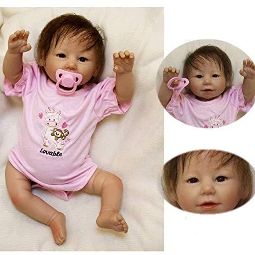 ZIYIUI 20 Zoll Reborn Babys mädchen 50cm lebensecht weichkörper silikon Puppe Girl Wie EIN echtes babypuppe...