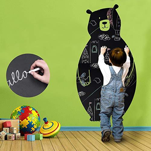 KINLO Tafelfolie Selbstklebend Bärenform folie Kreidefolie kein Verblassen Chalkboard Matt- schwarz Sehkraft...