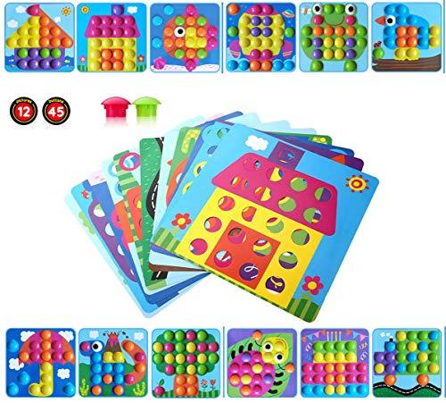 HUYIYI Mosaik Steckspiel für Kinder ab 2 Jahre,Lernspielzeug Geschenke ,Pädagogische Baustein Sets,...
