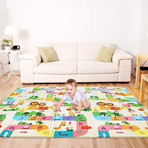 Baby Spielmatte, Bammax Babymatte, Baby Krabbelmatte, faltbare baby bodenmatte, umweltfreudlich, XPE Material,...
