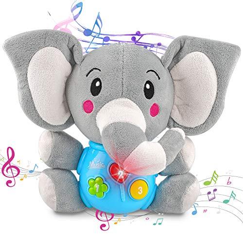aovowog Baby Spielzeug ab 6 7 8 9 Monate,Elefant Plüsch Spielzeug Kinderspielzeug Babyspielzeug,Lernspielzeug...