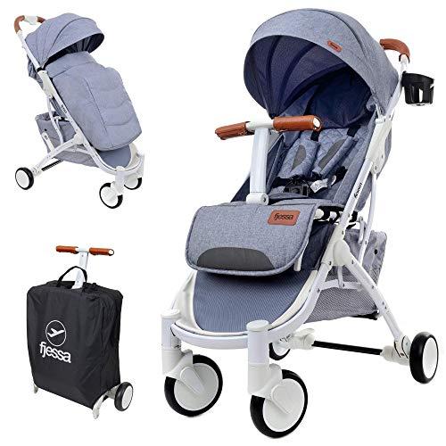 FJESSA Sky Comfort Reisebuggy mit Liegefunktion, Kinderwagen, Kinderbuggy, Travel Buggy, Sportwagen,...